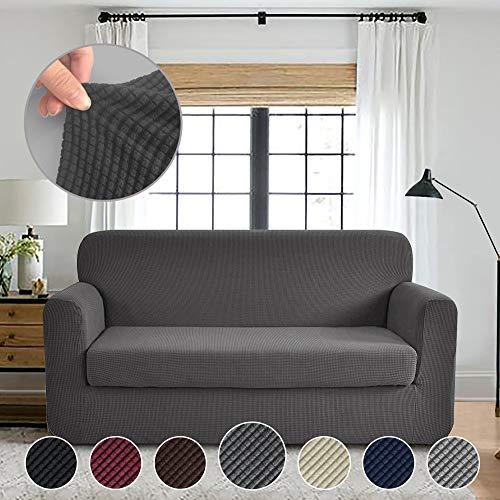 RHF Jacquard Stretch 2-Piece Sofa Cover