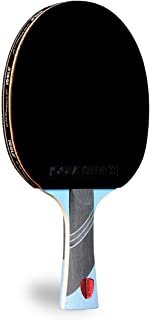 JOOLA Omega Speed - Table Tennis Racket for Advanced Training with Flared Handle - Tournament Level Ping Pong Paddle with Torrent 33 Table Tennis Rubber- Designed for Speed