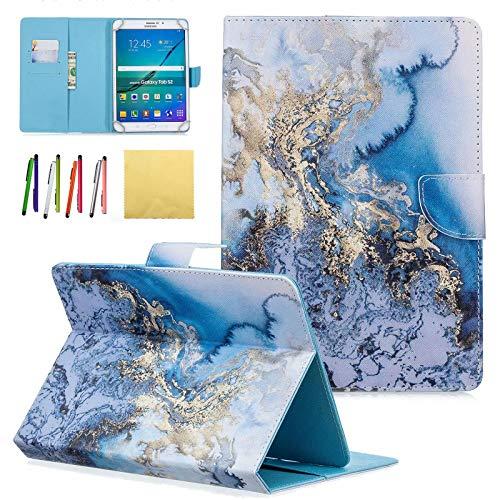 Dteck Schutzhülle für Samsung Galaxy Tablet, Apple iPad, Amazon Kindle, Google Nexus & weitere 16,5-26,7 cm (6,5-10,5 Zoll) Tablet 011 Blue Marble For 9.5-10.5 inch tablet