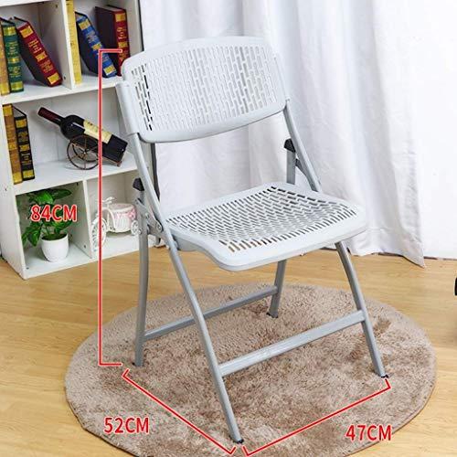 YLCJ Vouwstoel voor boeken, Stoel voor tuinterras Tuinbank Kunststof kruk Oppervlak Metalen beugel Stoel Maximaal draagvermogen 150 kg (kleur: GRAY) Grijs
