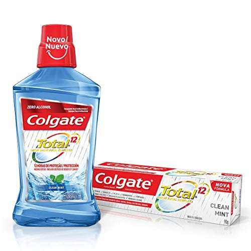 Enxaguante Bucal Colgate Total 12 Clean Mint 500ml Promo Grátis 1 Total 12 90g