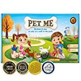 STEM game PET ME for Multiplication and Division math board game- Easy start educational game Perfect learning gift for girls and boys 7 and up Pet wonderland adventure game for family