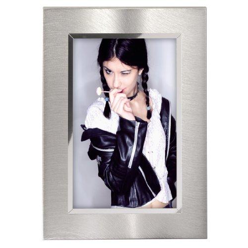 Hama Portrait Bilderrahmen Nantes (Fotogröße 15 x 20 cm) silber