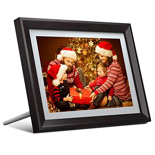 Dragon Touch 10 inch Wi-Fi Digital Picture Frame Classic 10, Touch Screen HD Display, 16GB Storage, Auto-Rotate, Share Photos with Friends via App, Email, Cloud (10 INCH, Black: 1280x800)