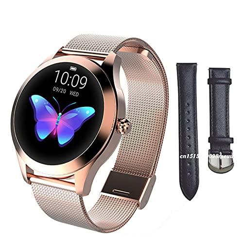 Moda Smart Watch Ladies KW10 IP68 Impermeabile Multi-Sports Mode Pedometro Frequenza Cardiaca Smart Watch Ladies Braccialetto Fitness,H