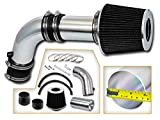 Rtunes Racing Short Ram Air Intake Kit + Filter Combo BLACK Compatible For 03-06 Accord 2.4L Non-MAF/ 04-07 TSX 2.4L Non-MAF