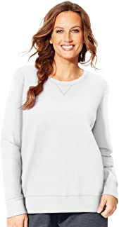 Just My Size Women's Plus Size V-Notch Sweatshirt