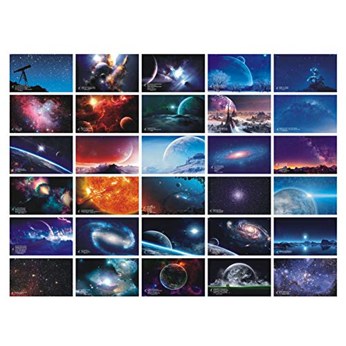 30 Stück 1 Set Reise-Postkarten Landschaft Postkarten Geschenk Blanko Postkarten (Sternenhimmel)