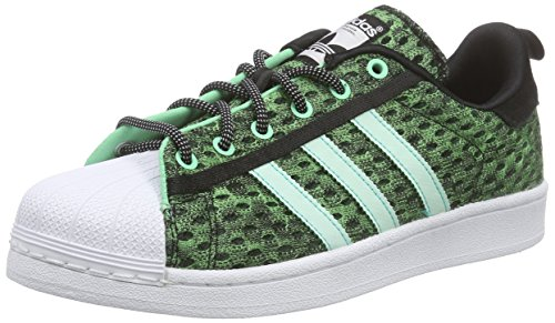 adidas Herren Superstar Glow in the Dark Sneaker, Schwarz (Core Black/Shock Mint S16/Ftwr White), 44 2/3 EU