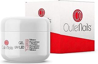 Gel Trifasico UVLED 50ml para Uñas de OUTLET NAILS transparente Viscosidad media Monophase Gel UVLEDMonofasico