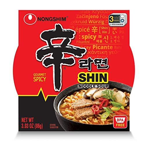 Nongshim Shin Bowl Noodle Soup, Gourmet Spicy,...