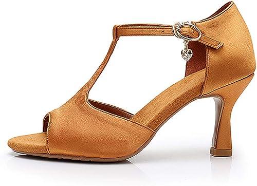 Danse Latine Chaussures De Plein Air Chaussures De Performance à Double Socialisation Communication Norme Nationale Danse Jazz Talons Hauts Sandales Les Les dames Adultes