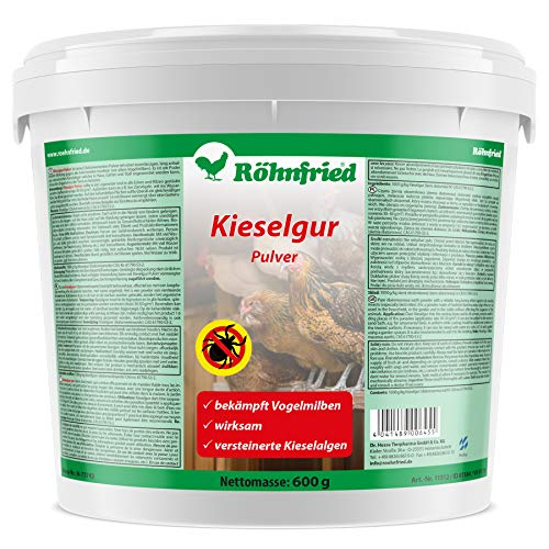 Röhnfried Kieselgur Pulver 600 g I bekämpft kriechende Insekten wie rote Vogelmilbe I Naturprodukt I Langzeitwirkung