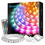 Led Strip Lights, Govee 16.4Ft Waterproof RGB Light Strip Kits with Remote for Room, Bedroom, T…