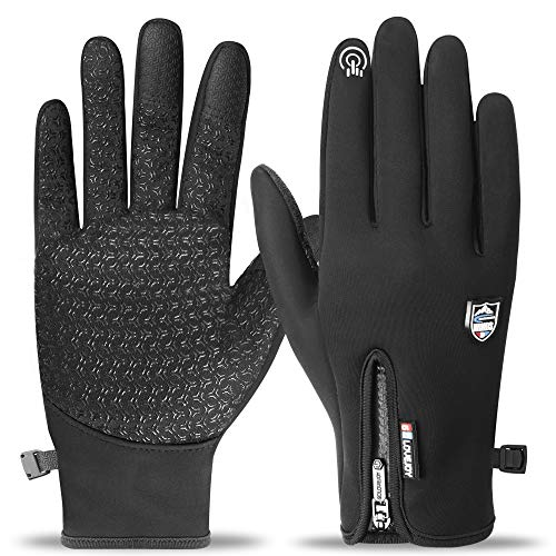 arteesol Touchscreen Handschuhe, Winterhandschuhe Thermohandschuhe wasserdichte Winddichte Anti-Rutsch Handschuhe Fahrradhandschuhe Laufhandschuhe Volle Fingerhandschuhe Unisex für Damen Herren