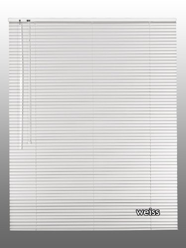 Alu-Aluminium Jalousie Rollo Jalousette 40 x 200 cm / 40x200 cm in Farbe weiss - Bedienseite links