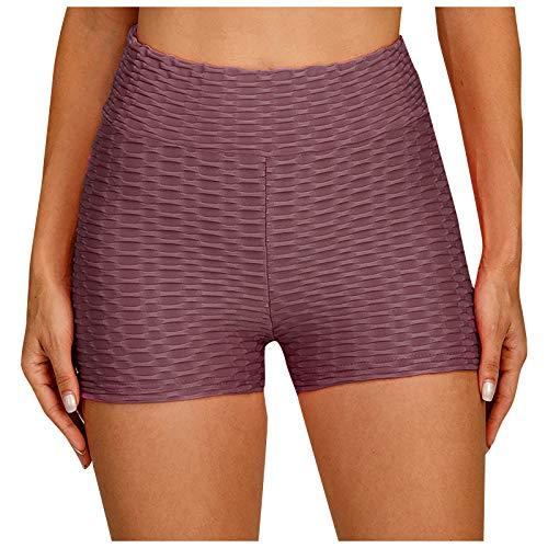 GANBADIE - Pantalón de cintura alta para mujer, elástico, correr, fitness, yoga, pantalones de ciclismo