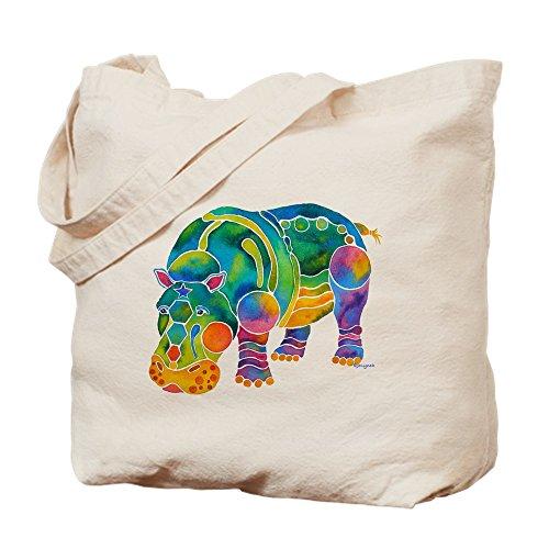 CafePress Most Popular HIPPO Tote Bag Natural Canvas Tote Bag, Reusable Shopping Bag