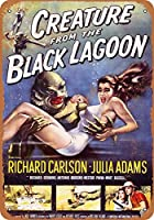S-RONG雑貨屋 1954 Creature from The Black Lagoon ブリキブリキ 看板レトロ デザイン30x40cm