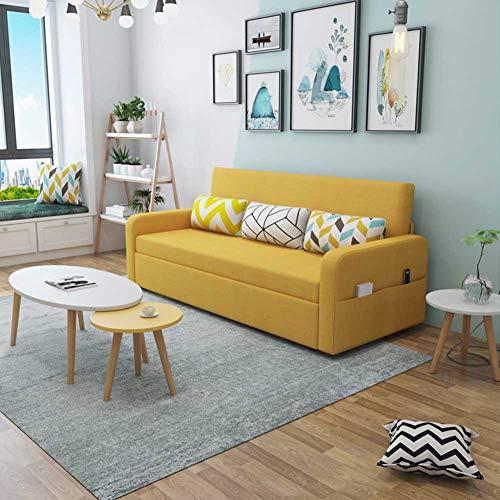 RJMOLU Sofá Cama Plegable 2 en 1 Sofá Cama con Cama de extracción, Cama Moderna de Soft Loveseat con Almohada, Sofá de sillón Ajustable para Sala de Estar o Dormitorio,C,Latex Filling