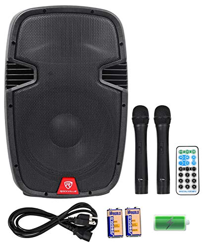 "Rockville 12"" Portable YouTube Karaoke Machine/System w/ 2 Mics See Description!"