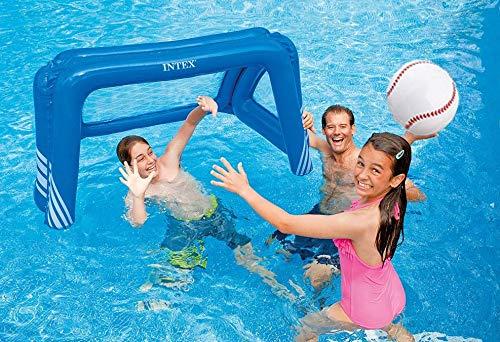 PlayO Inflatable Baseballs - 16 inch Beach Balls - Swimming Pool Beachballs - Kids Pool Sports Party Toys