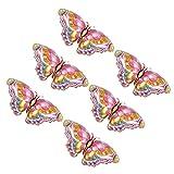 VALICLUD 6Pcs Farfalla Foglio di Alluminio Palloncino Animale Foglio di Alluminio Palloncino di Figura della Farfalla Palloncino Gonfiabili Palloncini in Mylar per Le Hawaii Estate Festa