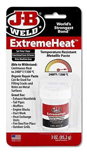 J-B Weld 37901 3 oz. Extreme Heat Temperature Resistant Metallic Paste (Pack of 4)