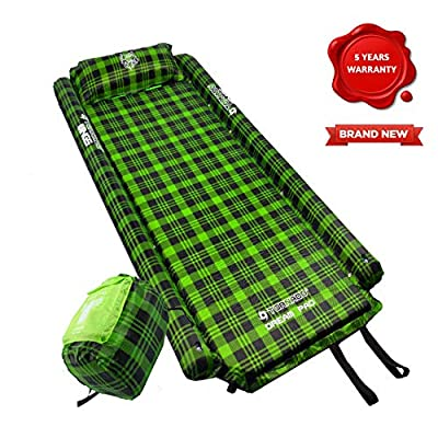 Tornado Dream Self Inflating Sleeping Pad & Camping Mat Comes with Foam Pillow and Wings   Connectable Airtight Camping Pad for Travel and Hiking   Size – XXL (195cm X 87cm X 4cm)