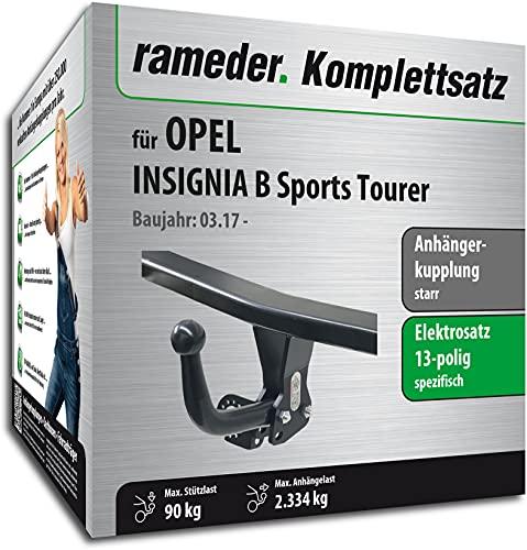Rameder Set, Anhängerkupplung starr + 13pol Elektrik kompatibel für OPEL Insignia B Sports Tourer (152675-37807-1)