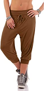 Eaktool Workout Yoga Hot Shorts,Women Solid Threaded Trousers with Loose Bandwidth Carf-Length Sport Pants