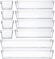 Backerysupply Clear Plastic Drawer Organizer Tray for Vanity Cabinet,Storage Tray for Makeup, Kitchen Utensils,...