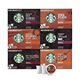 Starbucks Black Coffee K-Cup Coffee Pods — Variety Pack for Keurig Brewers — 6 boxes (60 pods total)