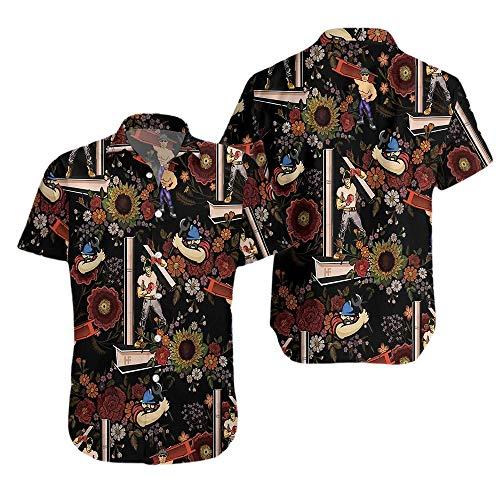H/Mm Ironworker Proud Flower Pattern Hawaiian Shirt