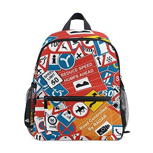 MyDaily Kinderrucksack Verkehrsschilder Kindergartentaschen für Vorschulkinder