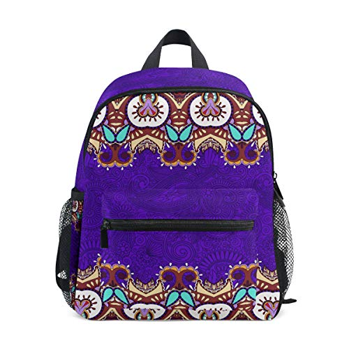 FANTAZIO Mochila Escolar Elemental Violeta Totem Bookbag
