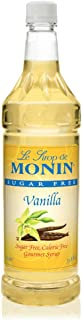 Monin - Sugar Free Vanilla Syrup, Great For Flavoring Coffee, Shakes, And Cocktails (1 Liter)