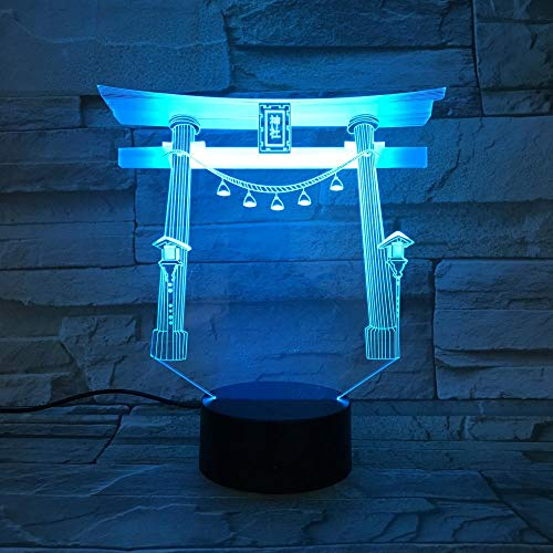 Luz nocturna 3D ilusión Luz de Noche Luz de ilusión 3D De Habitación De Niños Lámpara De Mesa Los Mejores Regalos De Vacaciones De Cumpleaños Para Niños Con interfaz USB, cambio de color colorido