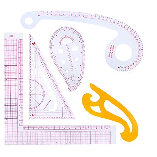 Juego de 5 piezas de diseño multi estilo, regla de curva francesa, para coser, artesanía