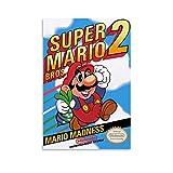 Gaming-Poster Super Mario Bros 2, dekoratives Gemälde,