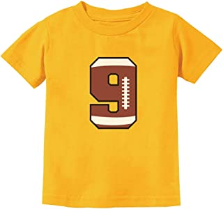 Gift for 9 Year Old Boy 9th Birthday Football Youth Kids T-Shirt