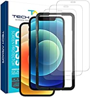 """Tech Armor Ballistic Glass Screen Protector for Apple NEW iPhone 12 (6.1"""") and iPhone 12 Pro (6.1"""") - Case-Friendly..."""