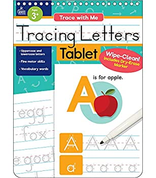Trace with Me  Tracing Letters Tablet Ages 1–5 32 Pages Wipe-Clean Writing Practice with Dry-Erase Pen