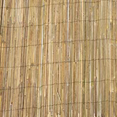 The tropical and unique look of natural bamboo will make for an attractive screen or fence for your garden Individual pieces of Slat bamboo are woven together with Black nylon coated wire to make a strong natural looking bamboo fence Can be used to c...