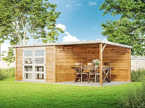 Alpholz Gartenhaus Holz groß Delices aus...