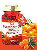 Sea Buckthorn Oil 1100mg | 60 Softgel Capsules | High Levels of Omega 7 | Non-GMO, Gluten Free Supplement | by Horbaach