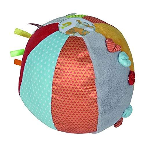 NICOTOY Disney Baby - Balle d'activités bébé en Tissu Winnie l'ourson Ø 18 cm