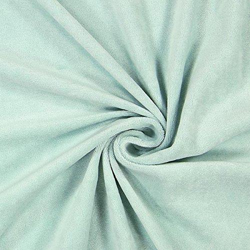 Fabulous Fabrics Nicki Stoff Uni – lindgrün — Meterware ab 0,5m — zum Nähen von Jacken, Hosen und Kissen