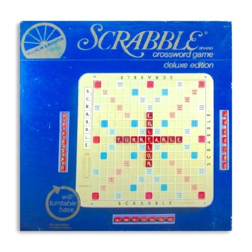 Scrabble Deluxe 1982 Edition Plastic Turn Table With Grid