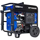 DuroMax XP15000E Gas Powered Portable Generator-15000 Watt Electric Start-Home Back Up & RV Ready, 50 State Approved, Blue/Black